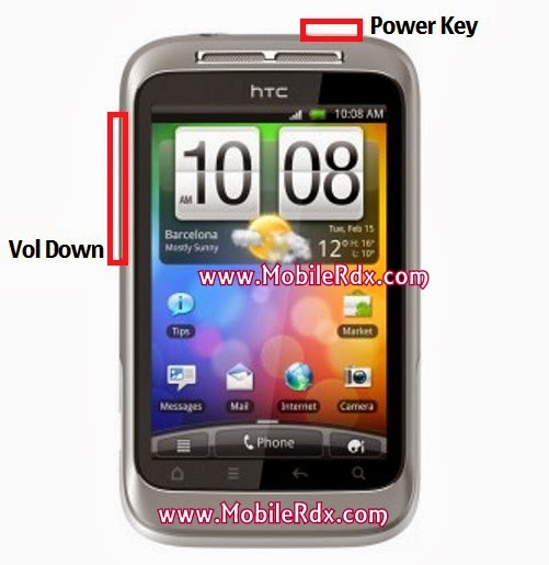 htc wildfire s a510e reset1 - How To Hard Reset Htc Wildfire S A510e Remove Pattern Lock