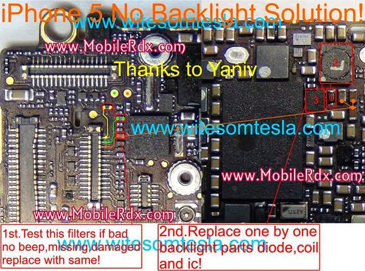 IPhone 5 Display Light Solution - IPhone 5 No Backlight Repair Solution Ways
