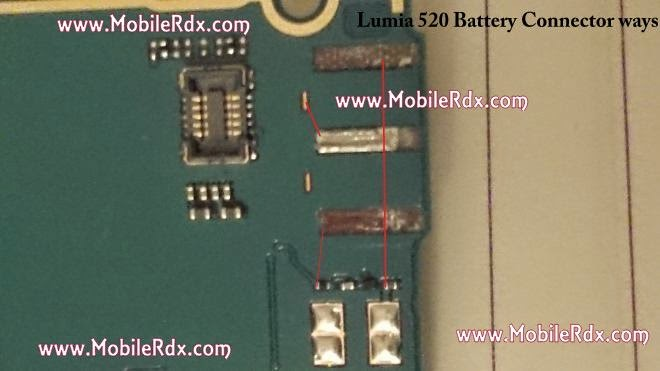 lumia 520 battery connector ways