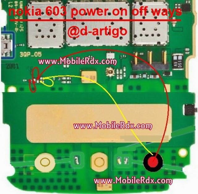 Nokia 603 Power On Off Ways - Nokia 603 Power On Off Jumper Ways