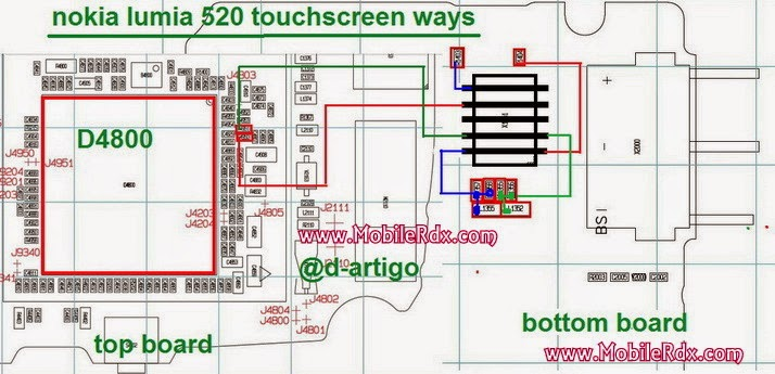 Nokia Lumia 520 touch screen solution