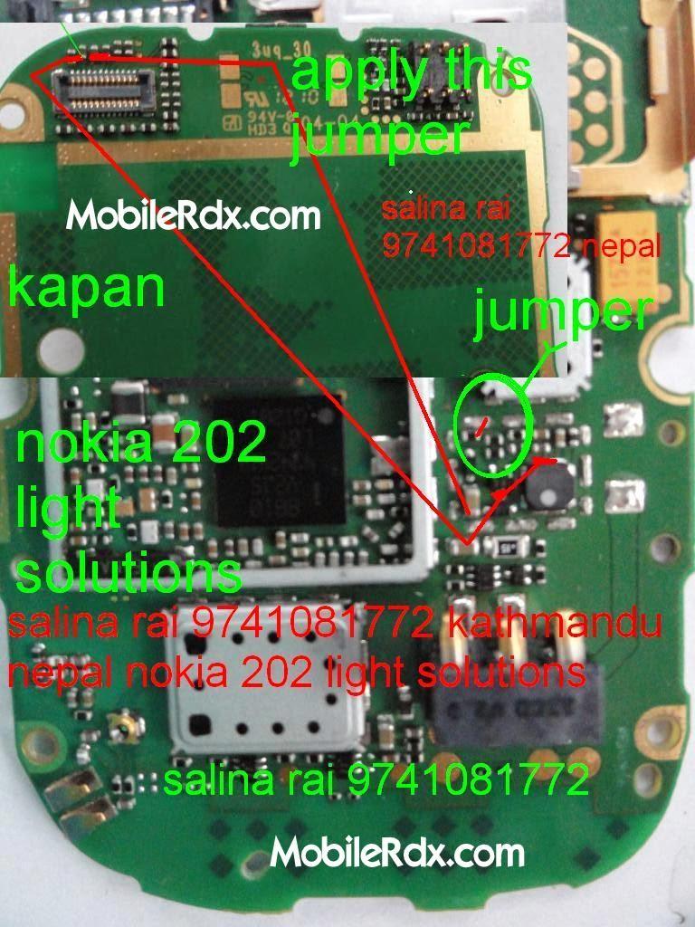 Nokia 202 Display Light Ways Solution