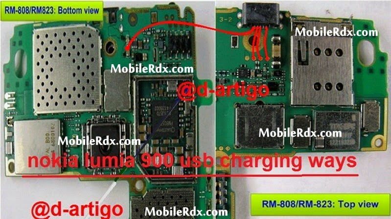 nokia 900 charging usb connecter ways jumper