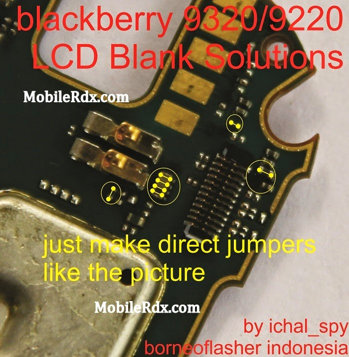Blackberry 9320 9220 Lcd Problem Jumper