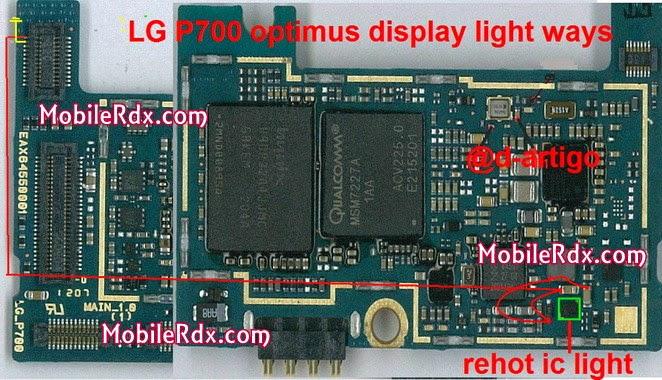 LG p700 optimus display light ways