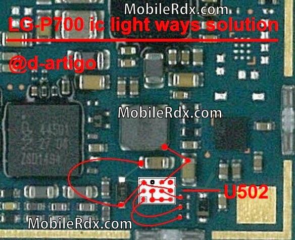 lg p700 ic light ways solution