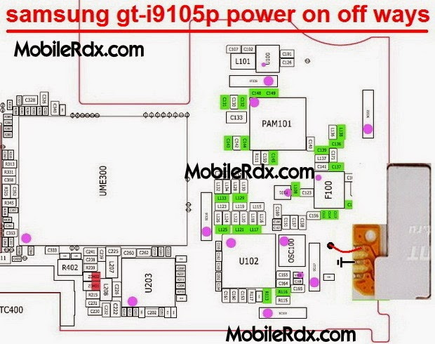samsung gt i9105p power button ways - Samsung GT-I9105P Power On/Off Key Jumper