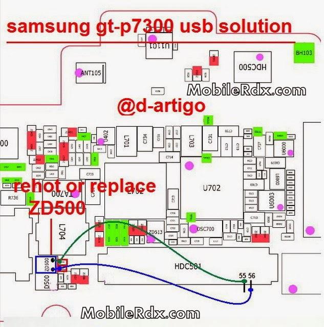 samsung gt p7300 usb ways