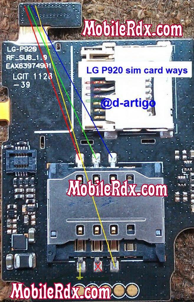 LG P920 sim ways solution jumper