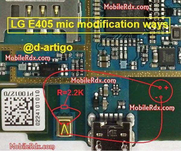 LGE405 mic modification ways jumper - LG E405 Mic Ways Modification Solution
