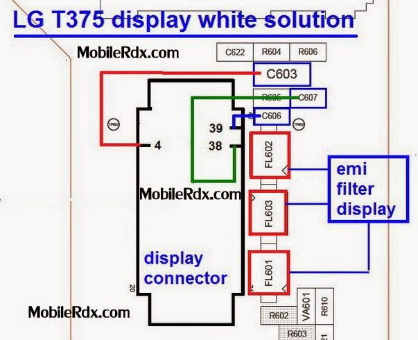 LGT375 display white solution ways