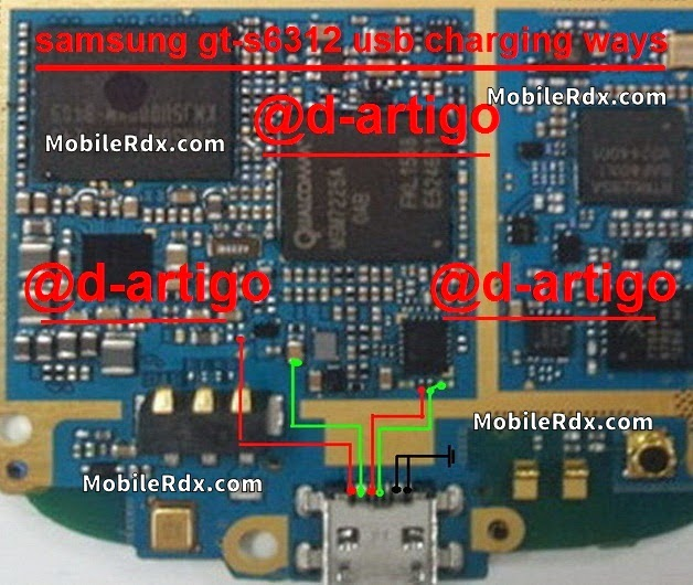 Samsung GT 6312 usb charging connecter ways