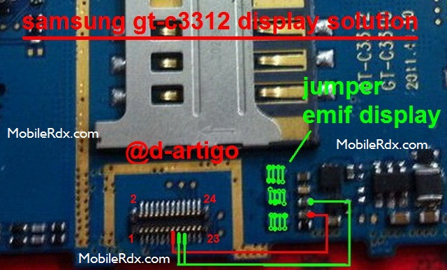 Samsung GT-C3312 Display Light Ways Lcd Jumper Solution