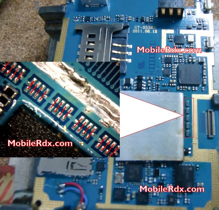 Samsung GT-S5360 White Display Lcd Problem Solution