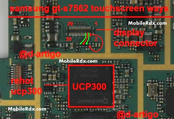 Samsung GT-S7562 Touchscreen Ways Problem Jumper Solution