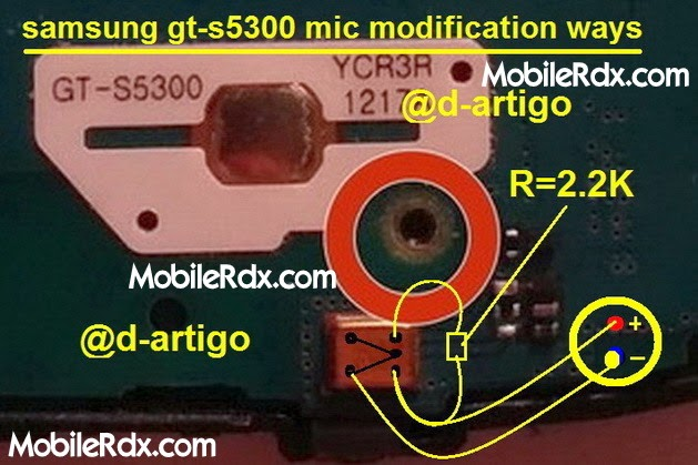 Samsung Galaxy Pocket S5300 Mic Modification Ways