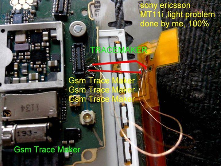 Sony Ericsson Mt11i Light Problem Jumper Ways Solution