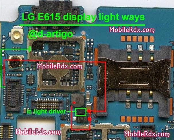 lg e615 display light ways jumper solution - Solution For LG E615 Display Light Problem Ways