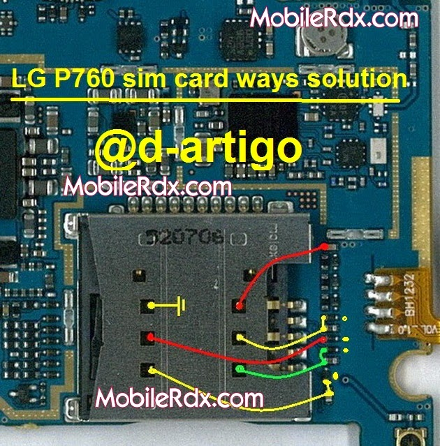 lg optimus l9 p760 sim card connecter ways