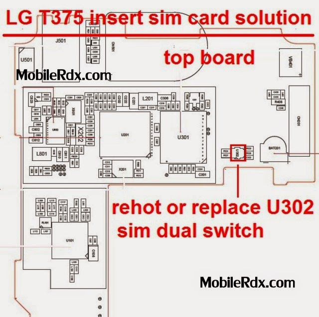 lg t375 insert sim card solution