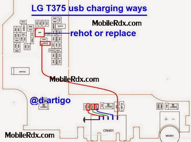 lg t375 usb charging ways jumper solution