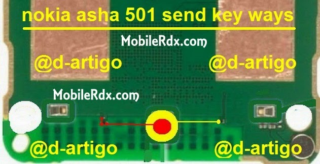 noka 501 send key button jumper
