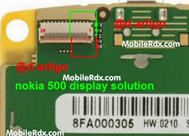 nokia 500 white display solution