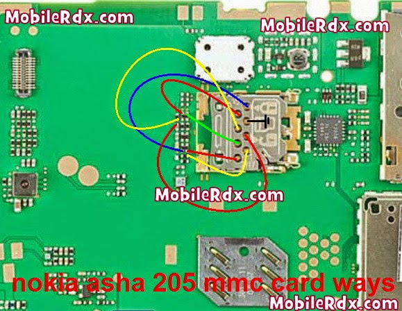 nokia asha 205mmc card jumper ways