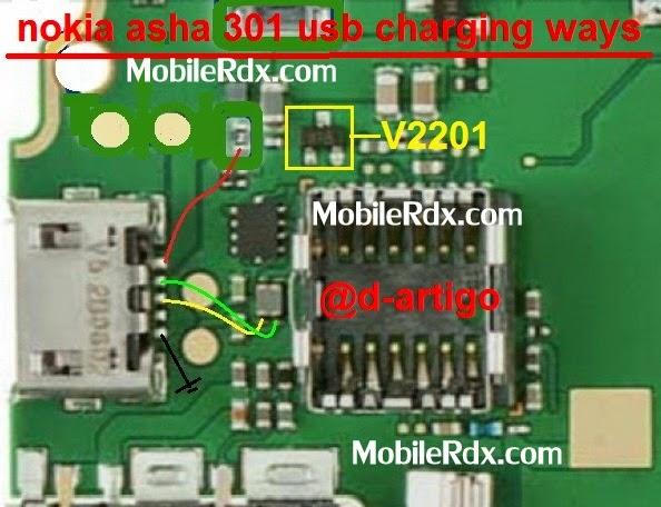 nokia asha 301 usb charging jumper ways