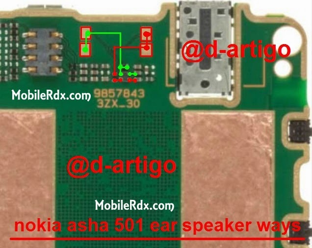 nokia asha 501 ear speaker ways jumper solution