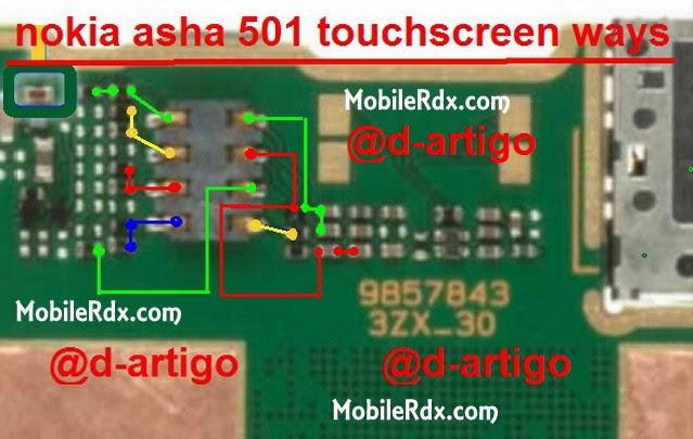nokia asha 501 touchscreen ways solution - Nokia Asha 501 Touchscreen Connecter Jumper Solution