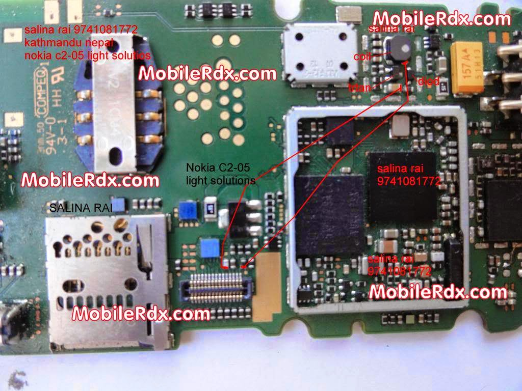 nokia c2 05 dislplay lcd light ways solution