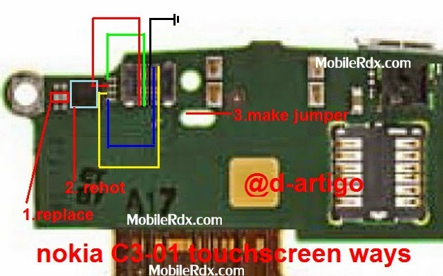 nokia c3 01 touchscreen connecter pic ways jumper - Nokia C3-01 Touchscreen Problem Full Ways Jumper