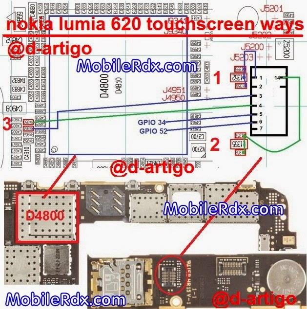 nokia lumia 620 touchscreen jumper ways