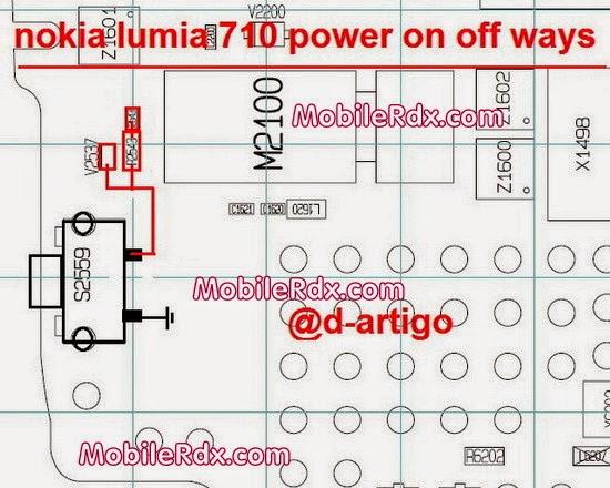 nokia lumia 710 power on off button ways