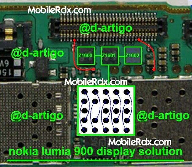 nokia lumia 900 display solution ic jumper