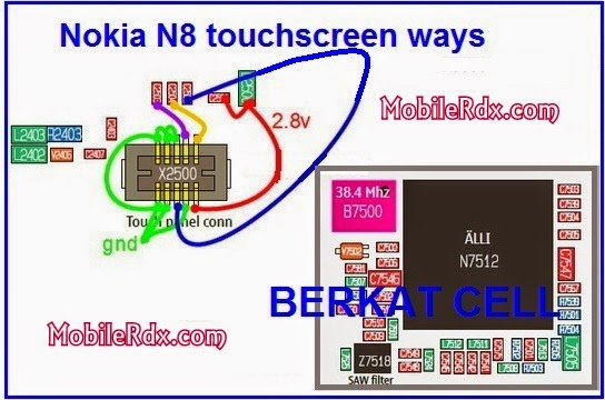 nokia n8 touchscreen connecter ways