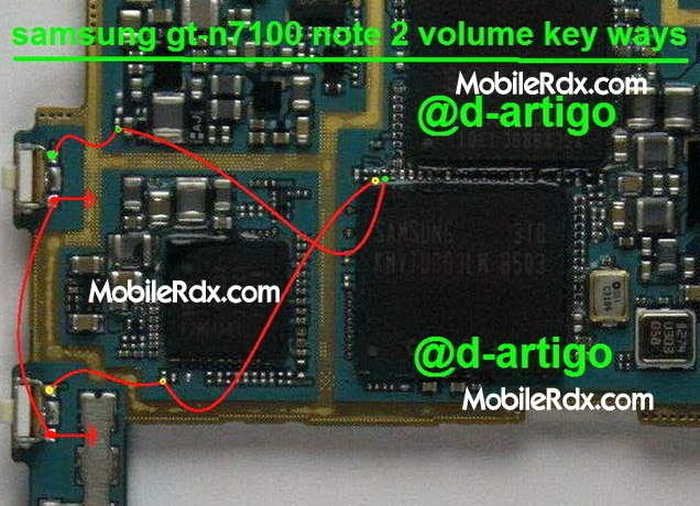 samsung 2Bgt n7100 2Bvolume 2Bkey 2Bways - Samsung Note 2 GT-N7100 Volume Up Down Keys Jumper