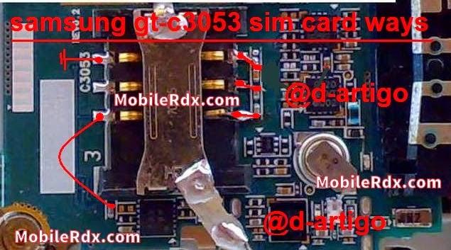 samsung c3053 insert sim solution ways jumper - Samsung Gt-C3053 Sim Crad Connecter Pin Ways Solution