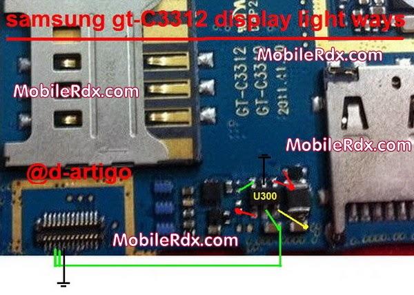 samsung duoes gt C3312 display light ways problem