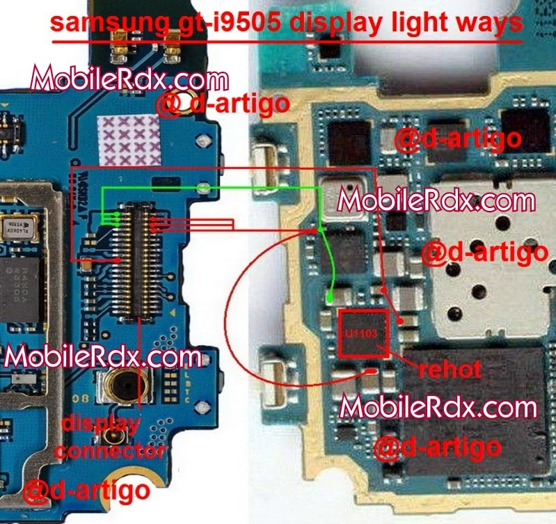samsung galaxy s4 i9505 lcd display light ways jumper solution - Samsung Galaxy S4 I9505 Display Light Ways Solution