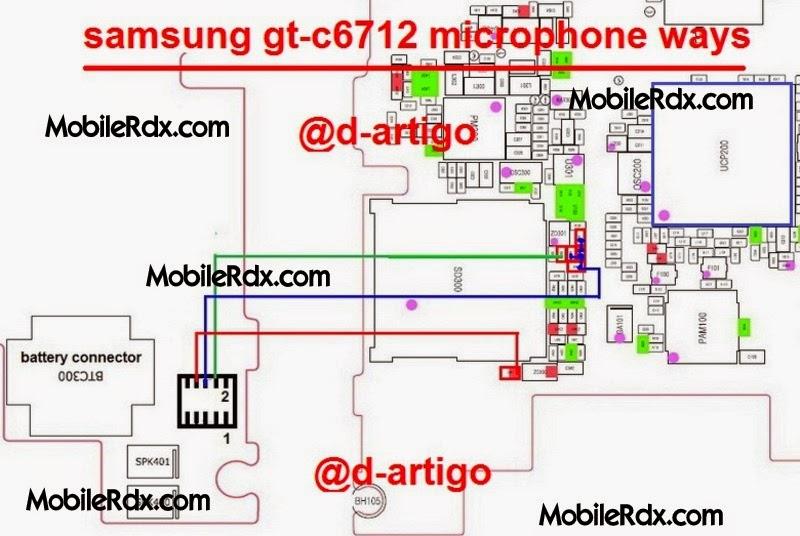 samsung gt c6712 mic ways