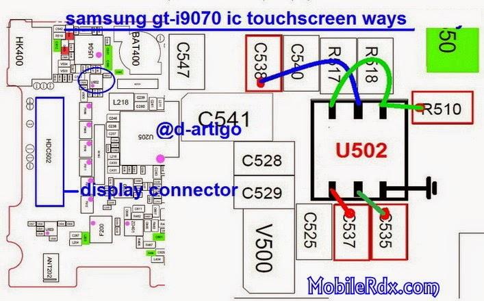 samsung gt i9070 touchscreen ways