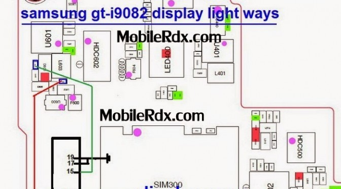 Samsung I9082 Display Light Problem Jumper Ways