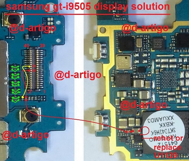 samsung gt i9505 display solution - Samsung Galaxy S4 I9505 Display Light Ways Solution