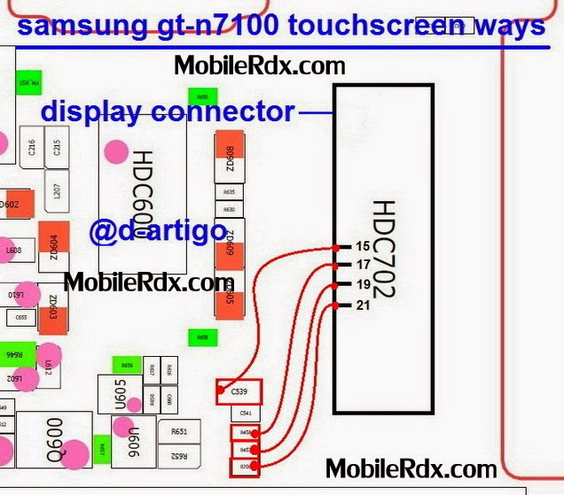 samsung gt n7100 note2 touchscreen connecter ways jumper - Samsung Gt-N7100 Touchscreen Pin Connector Jumper Solution