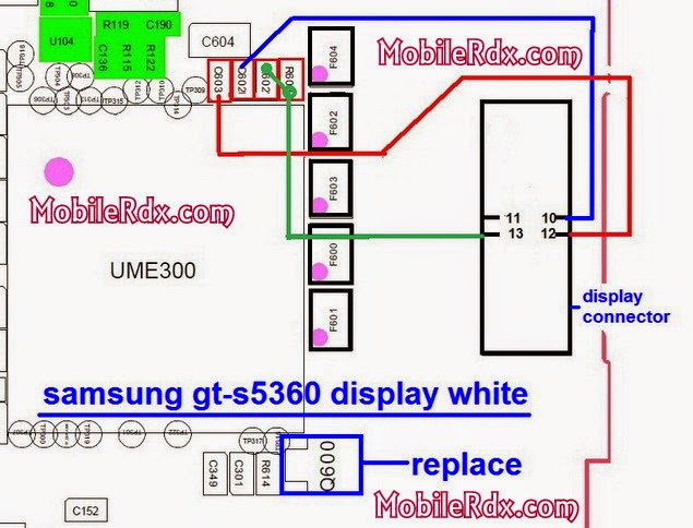 samsung gt s5360 display white solution
