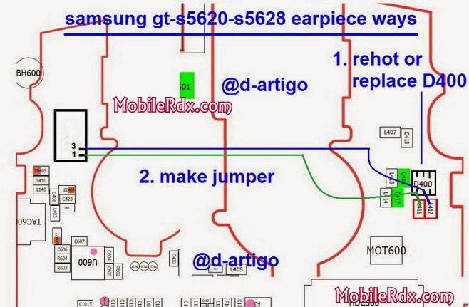 samsung gt s5620 s5628 earpiece ways