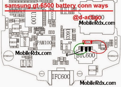 samsung gt s6500 battery connector jumper ways