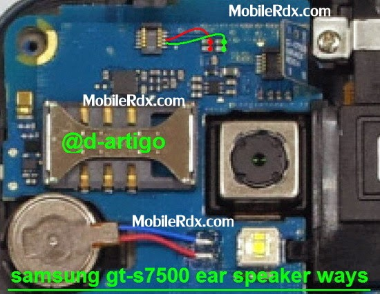 samsung gt s7500 earspeaker ways track
